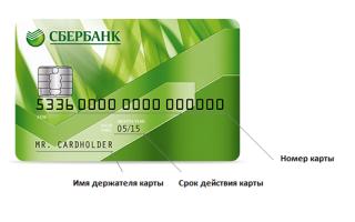 Где у карты сбербанка номер